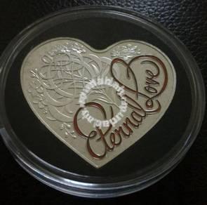 2015 Australia 5 dollar Silver Valentine Day Coin