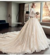 White long sleeve fishtail Wedding dress RB0898