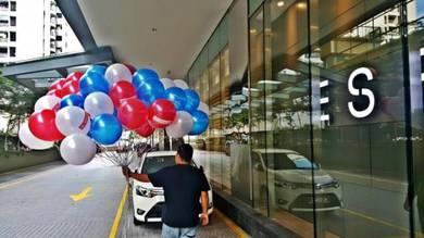 30pcs Round Shape Balloon Self Pickup 00472