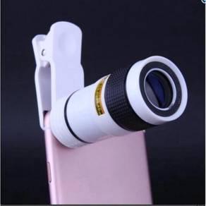 8x Zoom Monocular Telescope Camera Lens Universal