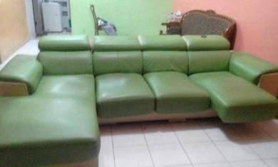 Green elegent lorenzo l shape sofas