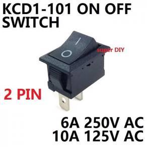 On Off 2 pin KCD1-101 Rocker Switch SPST 6A/250V