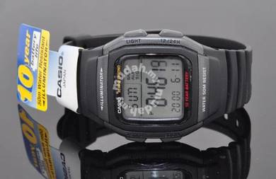 Casio Digital 10 Years Batt. Rubber Watch W-96H-1B