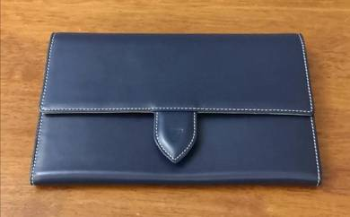 Aspinal of london travel document leather clutch