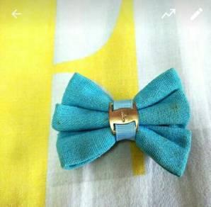 Blue Ribbon Hair Clip