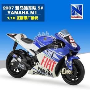 NewRay 1:18 2007 Yamaha M1 #5 MotoGP Diecast Motor