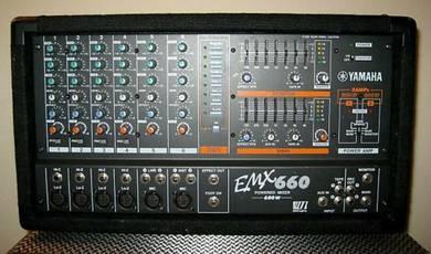 Yamaha emx660 powered mixer