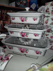 Set buffet kaca petak