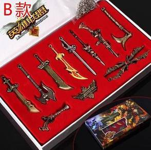League of legend LOL keychain necklace 11 in 1 set