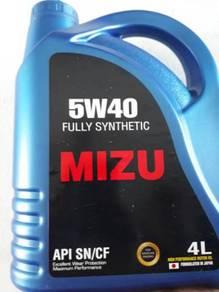 MIZU Fully-Synthetic Lubricant 5w-40 Engine Oil