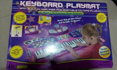 Playmat keyboards