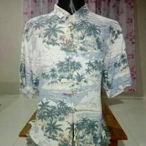 Kemeja hawaii single pocket