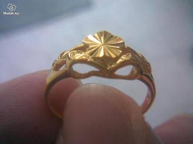 ABRGM-F001 Charming 9K Solid Gold Filled Ring sz8