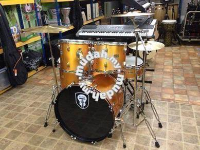 Techno Gold Drum Set with Cymbal