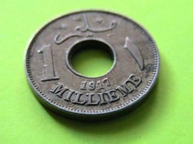 Egypt 1 Millieme 1917 AH 1335