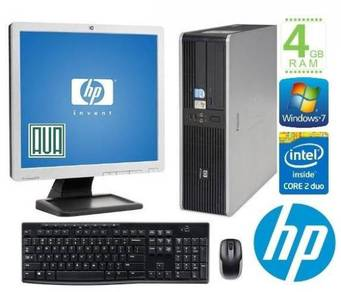 Hp dc5700 + monitor office PC set Core2Duo 4GB RAM