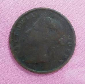 Queen Victoria 1 cent coin