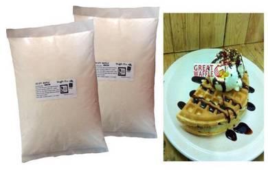 Tepung Waffle Crispy 1.75kg Produk Bumiputera