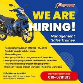 Management Sales Trainee / Jurujual Motosikal
