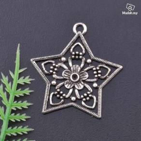 ABPSM-S006 Silver Metal Star Pendant Necklace