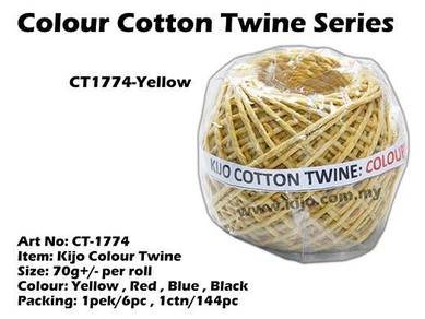CT1774-Kijo Colour Twine Yellow