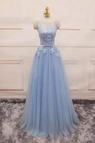 Blue diamond maxi party dinner dress prom RBP0065