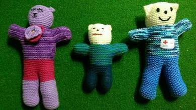 Hand-knitted Colorful Soft Toys