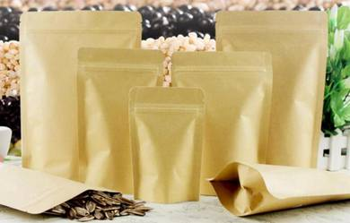 1000pcs 9x14cm Craft Paper Zip lock Bag -WHOLESALE