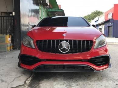 Mercedes W176 Facelift A45 Carbon Lip Canard Kit