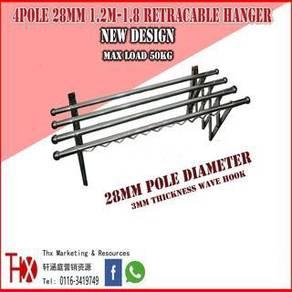 Cloth Hanger Wall Type Telescopic Thx 28MM X 4 Pol