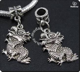 ABPSM-D018 Lovely Silver Dragon Pendant Necklace