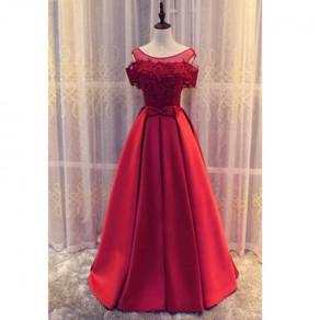 Red dinner dress prom party wedding gown RBP0067