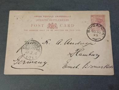 Postcard Straits Settlements GERMAN 1895 PC 119