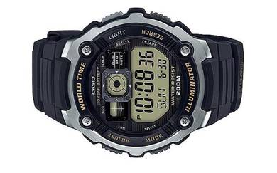Casio World Time 10 Year Battery Watch AE-2000W-9A