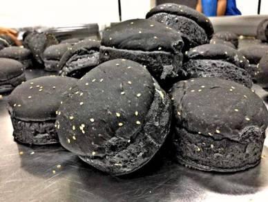 Roti Burger Hitam Charcoal
