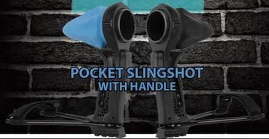 Pocket Slingshot with Handle | Lastik