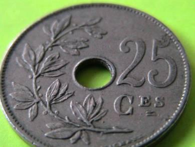 Belgium 25 Centimes 1909