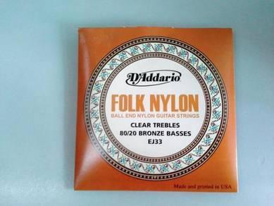Folk Nylon Guitar String - EJ33 (D'addario)