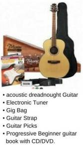 Acoustic Guitar Takamine D20 D-20 With Package