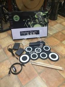 Portable Electronic Drum : 7 pads