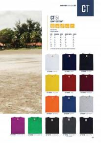 10pcs Unisex Round Neck Shirt wif 1 Color Printing