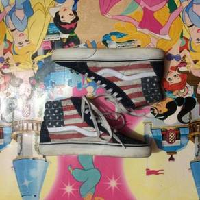 America Flag Vans High Cut