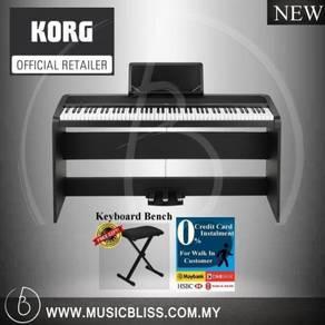 Korg B1SP Piano Black with Bench & 0% Installment