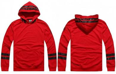 Retro Red Hoodies Shirt Casual Pullover Sweater