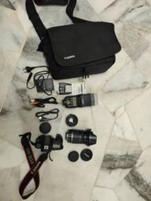 Canon eos 60d fullset with 2 lens