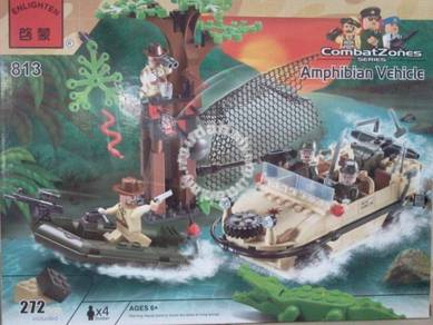 Bricks - Enlighten 813 Amphibian Vehicle Army