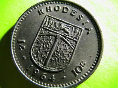 Rhodesia 10 Cents 1964