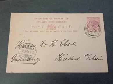 Postcard Straits Settlements GERMAN 1899 PC 125