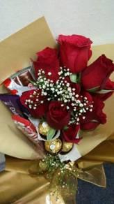 Flower Bouquet/Jambangan Bunga/Bunga Segar