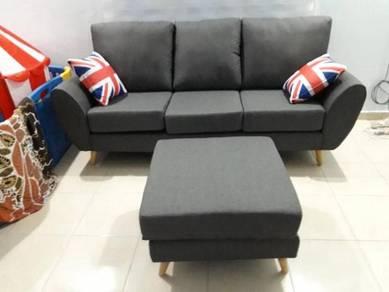 Moiko sofa with stool